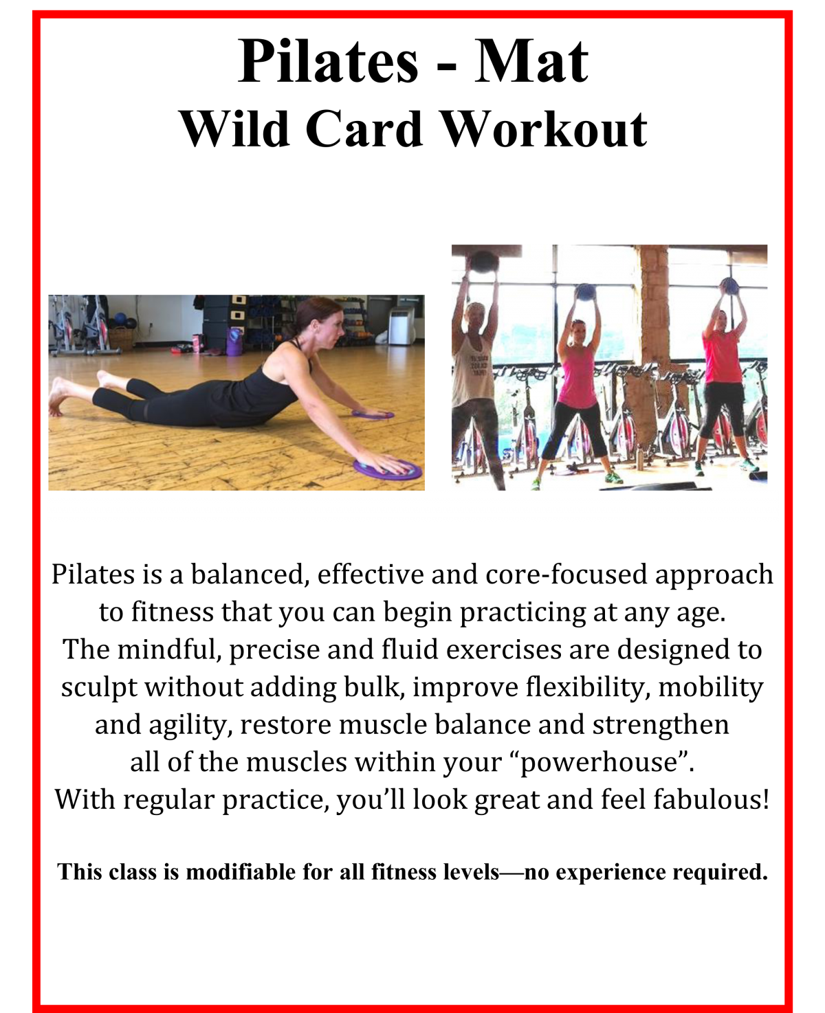 This Week's Wild Card Workout: Pilates Mat