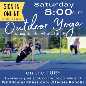Spring Yoga on the turf